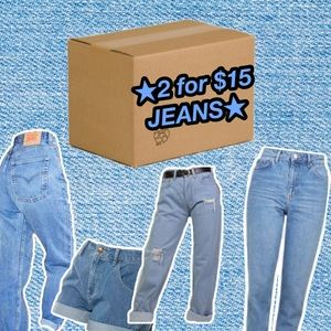 2 Pairs of Vintage High Waisted Jeans